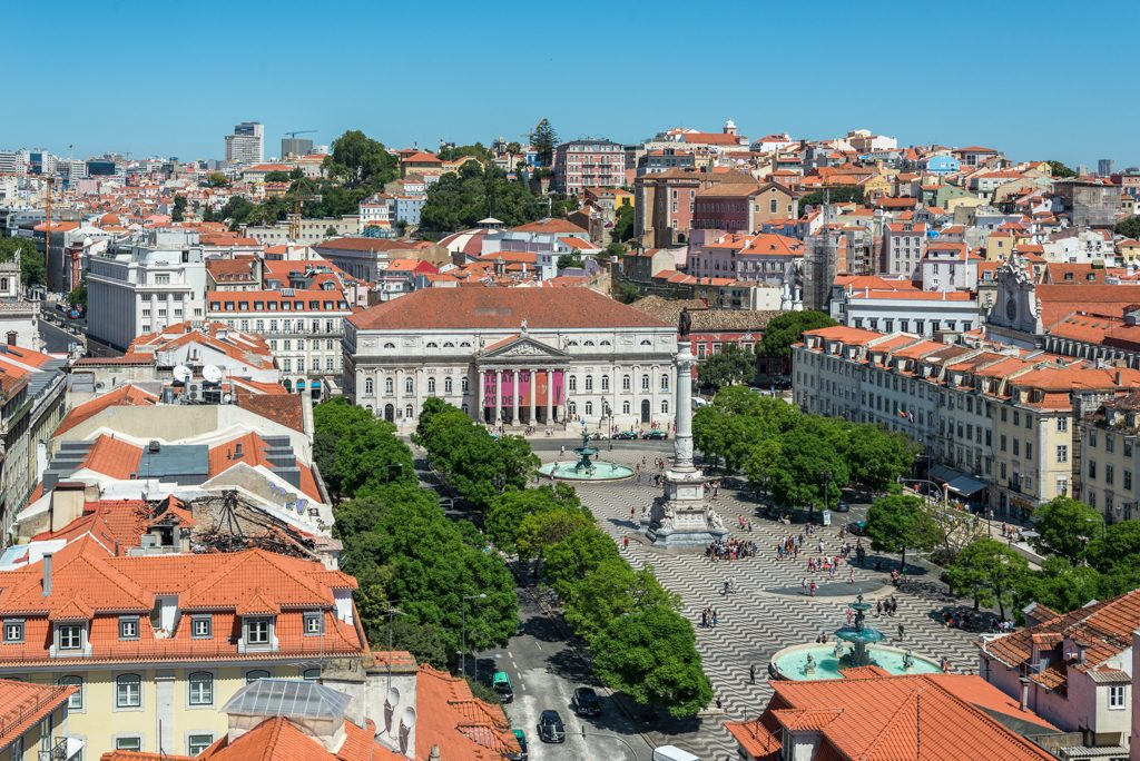 Plaza do Rossio, Lisbona
