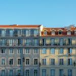 Lisbona, palazzi Praca Figueira
