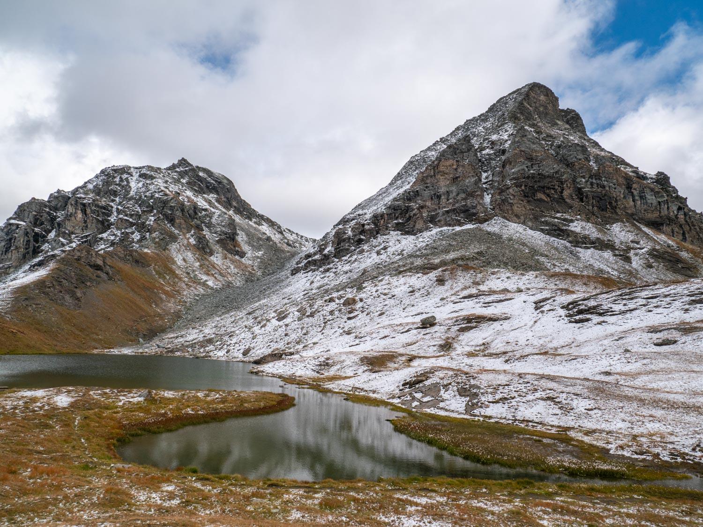Val d'Ayas, prima neve al Lago Perrin